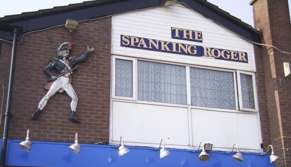 Spanking Roger Sign