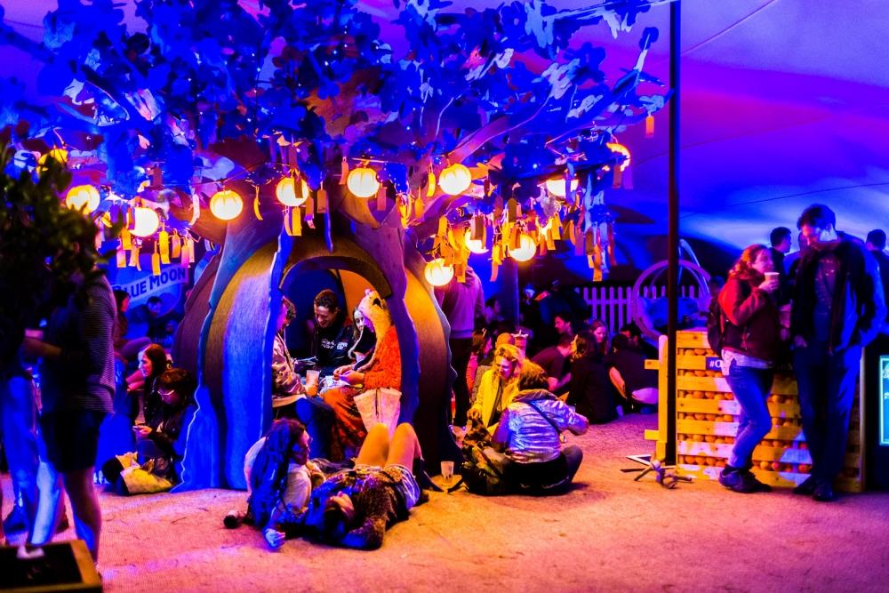 Bluedot 2017 Friday Wishing Tree Within The Blue Moon Art Instalation