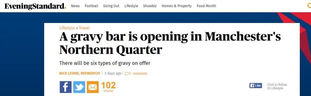 Gravy Bar Hoax