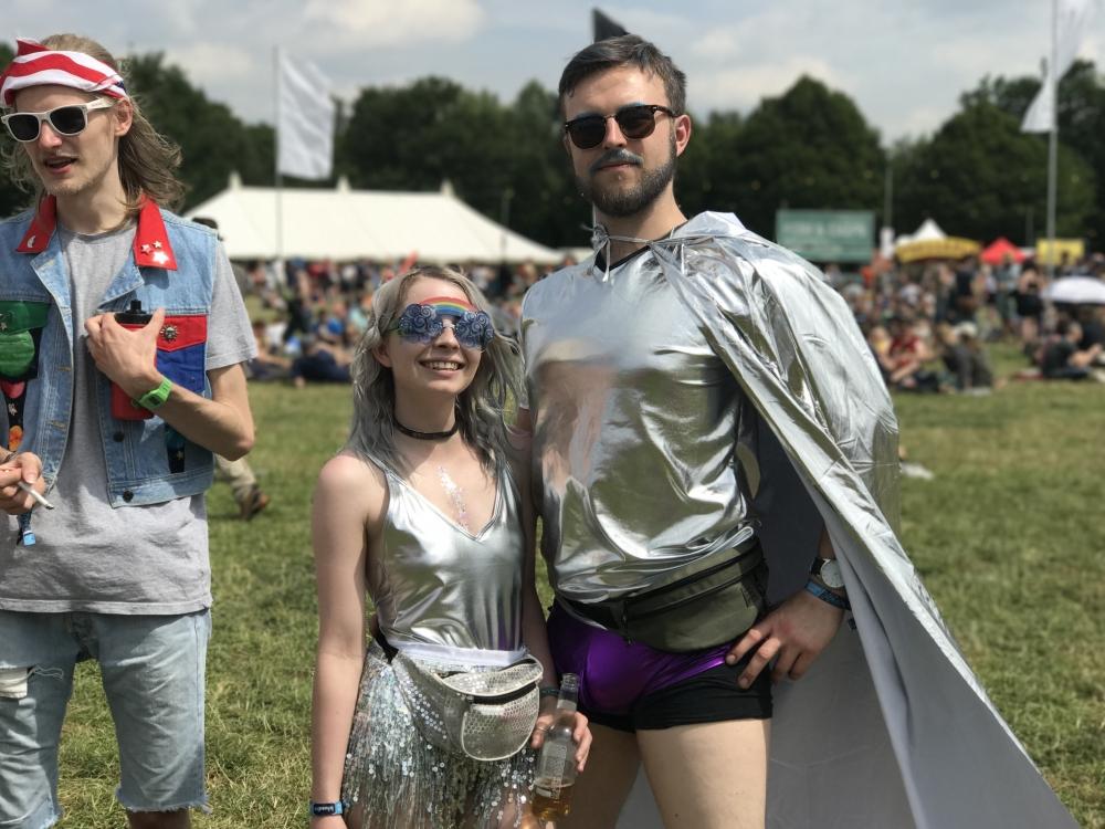 20170710 Bluedot Silver Lame Couple