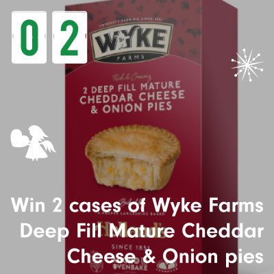 Win 2 cases of Wyke Farms Deep Fill Mature Cheddar Cheese & Oninon pies