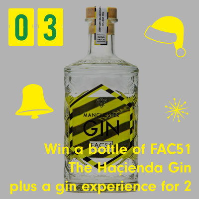 Win a bottle of FAC51 The Hacienda Gin plus a gin experience from Manchester Gin