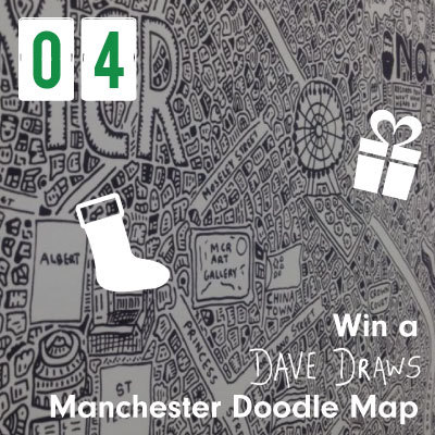 Win a Dave Draws Manchester Doodle Map