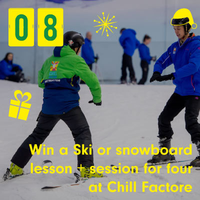 Win a Ski or snowboard lesson + session for four at Chill Factore
