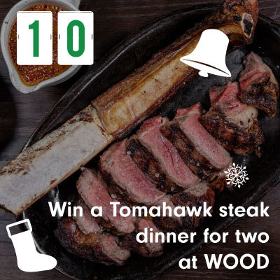 Win a Tomahawk steak dinner for two at WOOD