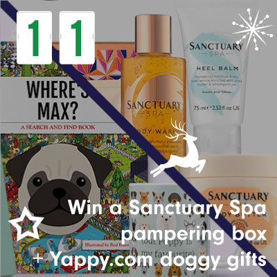 Win a Sanctuary Spa pampering box + Yappy.com doggy gifts
