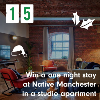 Win a one nigth stay at Native Manchester in a studio apartment